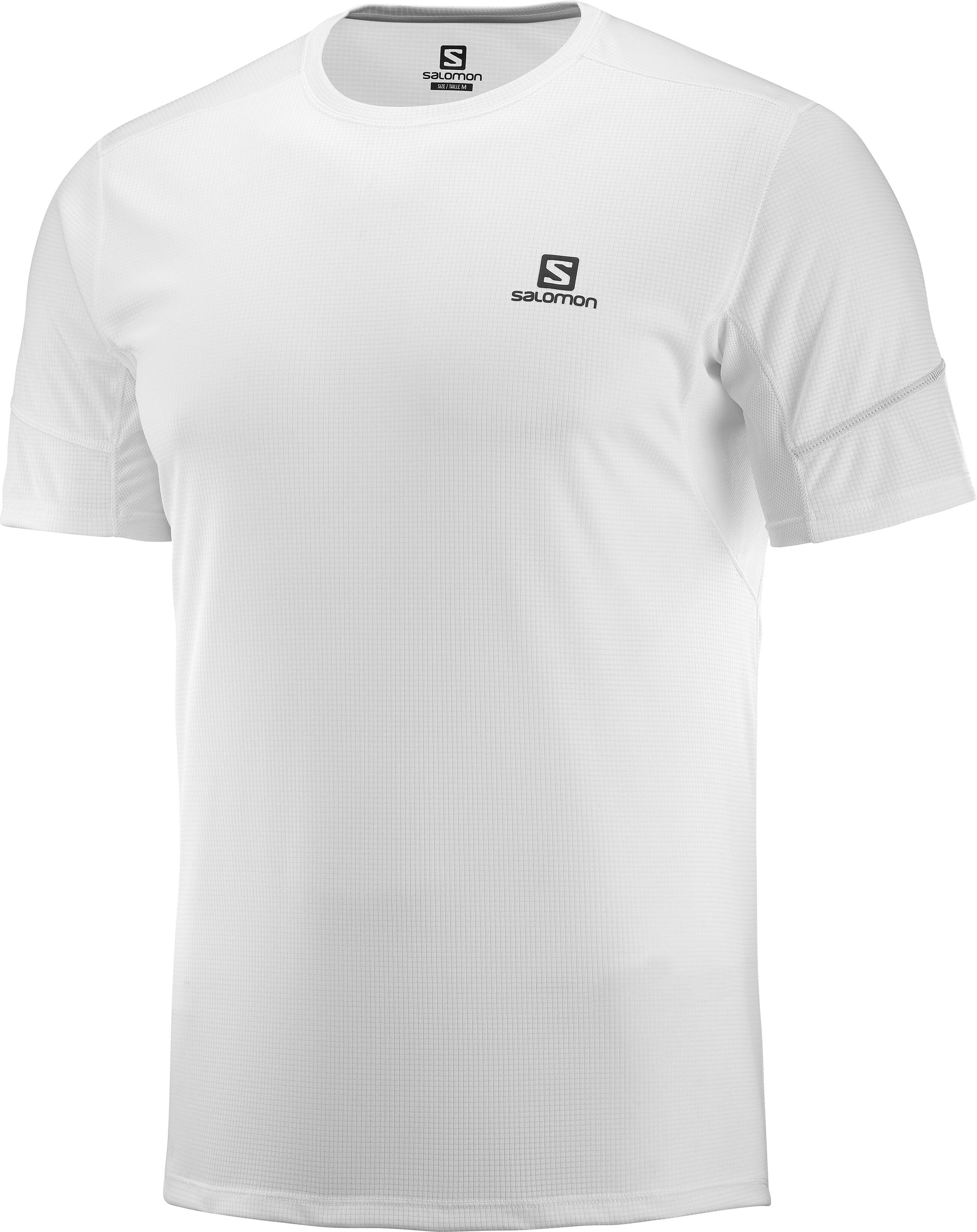 1442a463bd4 Salomon Agile Hardloopshirt korte mouwen Heren wit l Outdoor winkel ...